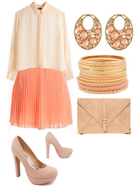 It's All Peachy! 6-Piece Pastel Peach Look for $160 1