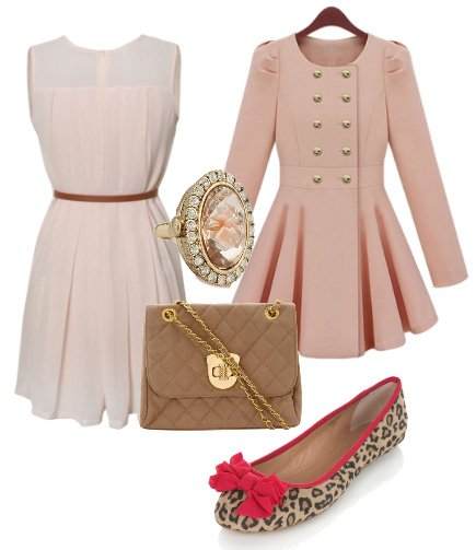 5-Piece Look for $170: Pink Dust, Cream and Leopard 1