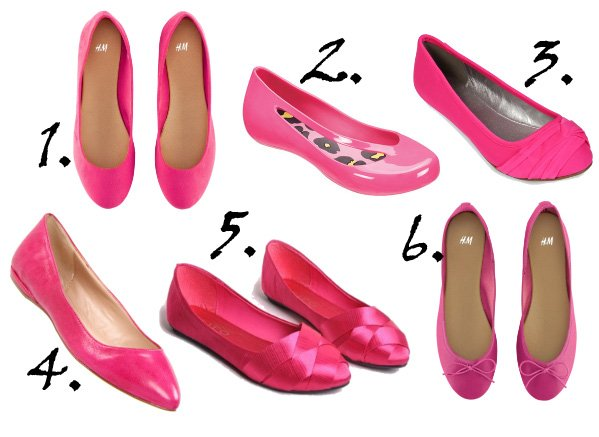 Shopping Time: Hot Pink Ballet Flats Under $60   shopping time on a budget fashion trends