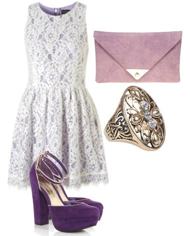 Daily Outfit: Purple Lace Look for $150   fashion trends daily outfits