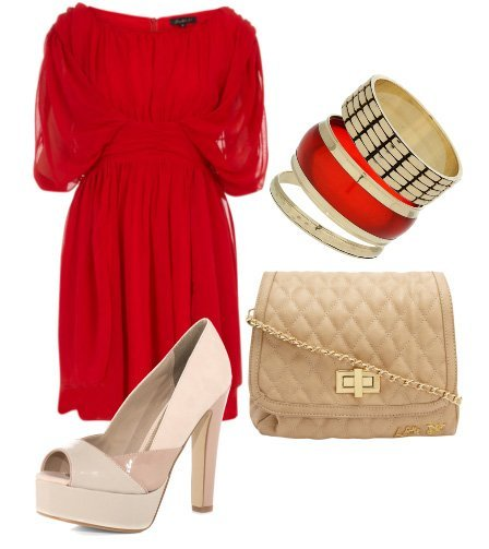 Perfect Pair: Hot Red and Soft Nudes    fashion trends daily outfits