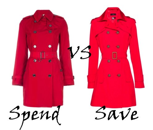 Spend VS Save: Red Trench Coats   trendy games