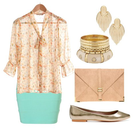 tiffany blue apricot outfit