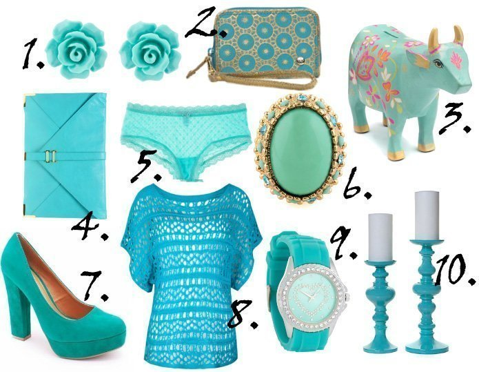 Color of the Week: Turquoise   10 Picks Under $40!   trend alert shopping time on a budget fashion trends color collections