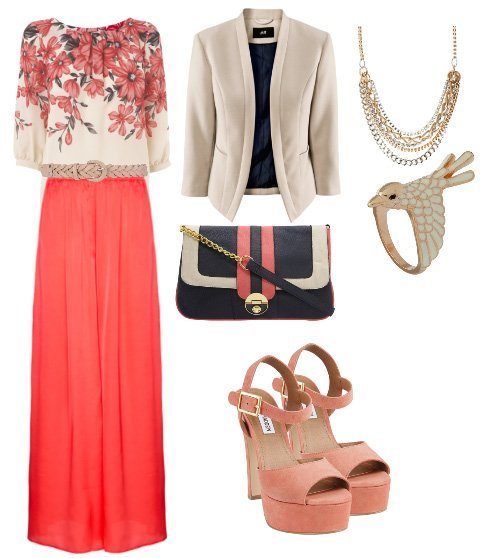 Daily Outfit: Alternative Work Day in Coral and Florals