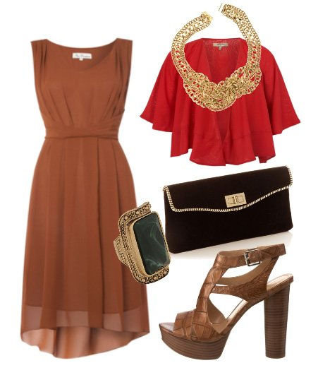 Daily Outfit: Milk Chocolate and Red Chiffon   fashion trends daily outfits