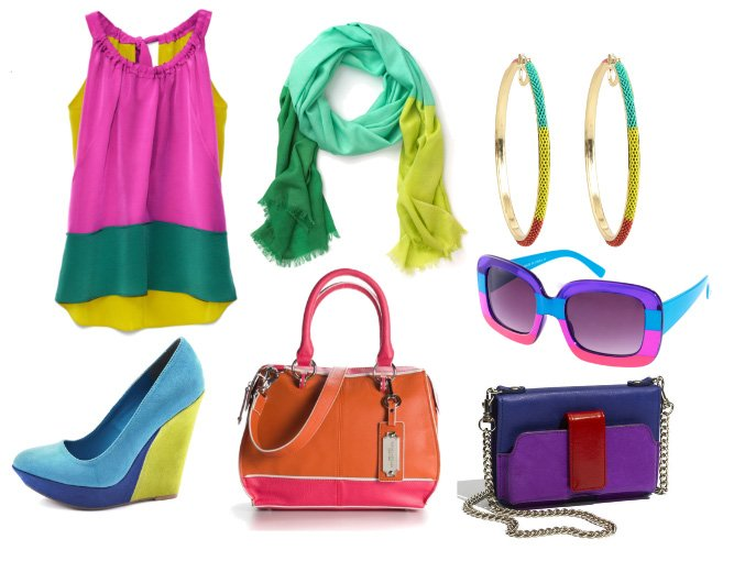 Colors Aloud! Vibrant Color Block Picks Under $100   trend alert shopping time on a budget fashion trends