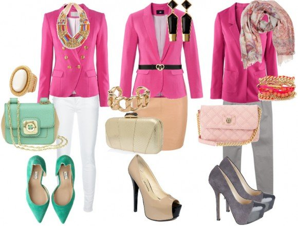 pink blazer how to wear