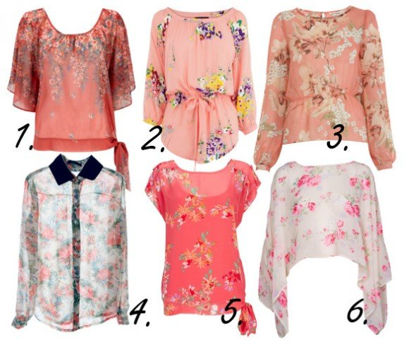 pink floral tops for spring