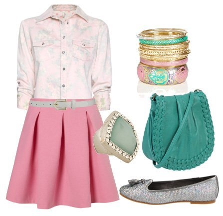 Pinky Blues   Daily 7 Piece Look Under $200   fashion trends daily outfits