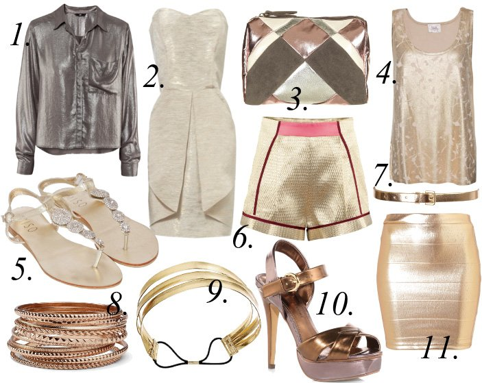 Shine ON! 11 Hot Metallic Picks Under $50!   trend alert shopping time on a budget fashion trends