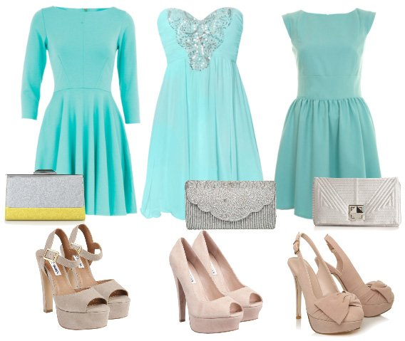 How to Wear: Minty Dresses, Nude Heels & Silver Clutches   how to wear fashion trends