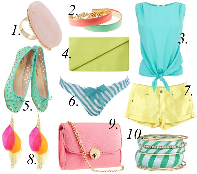 Sweet Like Candy   10 Deliciously Colored Picks Under $40   trend alert shopping time on a budget fashion trends