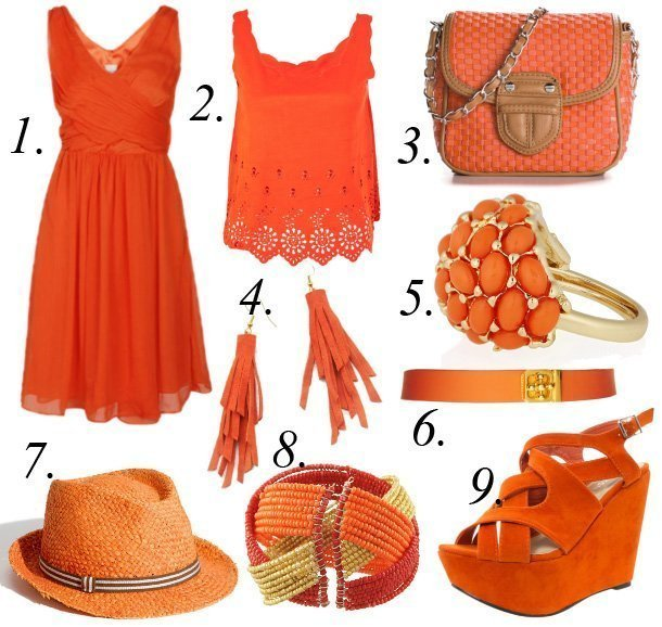 Color of the Week: Tangerine   9 Hot Summer Picks Under $50   trend alert shopping time on a budget fashion trends color collections