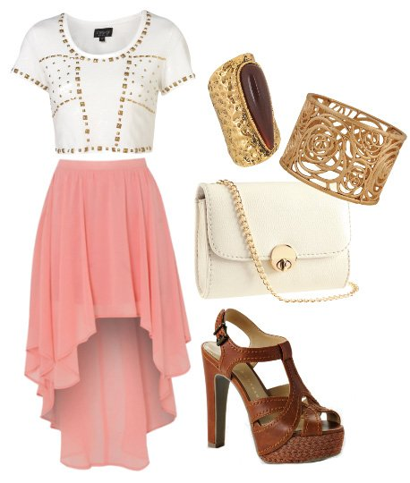 Themed Outfit: Cropped Top & Golden Touches
