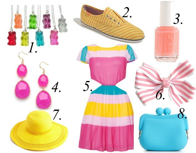Sorbet Treats   Colorful Picks from $8 to $45   trend alert shopping time on a budget fashion trends
