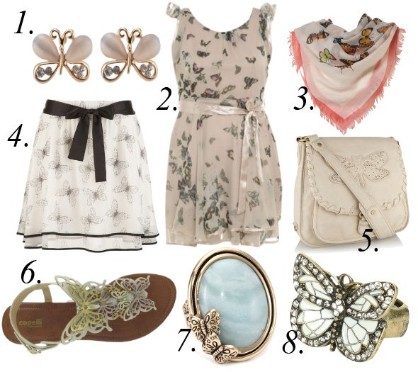 The Butterfly Effect   8 Delicate Picks From $6 to $70   shopping time on a budget fashion trends