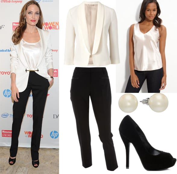 Get Her Style - Angelina Jolie's Black & White Outfit for $160 3