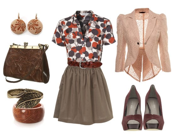 Go 'Granny Chic': Bubbles, Browns and Lace! 3