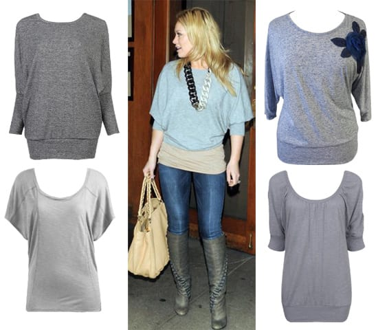 Hilary Duff's Gray Top for Less than $30 - 4 Options for You 14