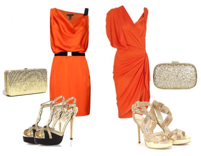 Orange Dress & Golden Sandals - Low Budget VS Mega Budget 5