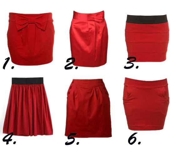 Shopping Time: Red Skirts Under $50! 3