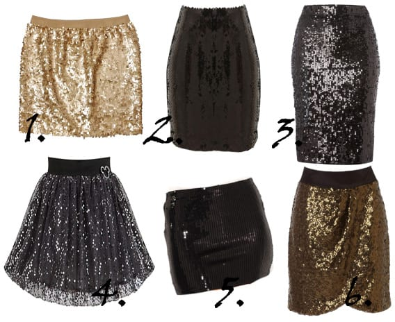 Party Time Shopping: Sparkly Sequin Skirts Under $50! 6