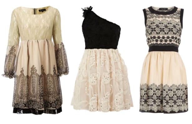 Dress Trend: Cream and Black Lace - 3 Picks Under $45 2