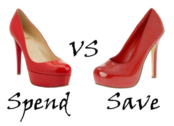 Spend or Save: Red Patent Pumps 3