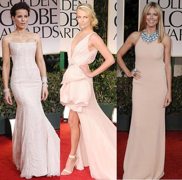 Celebrity Trends: Pink Blush Evening Dresses 2