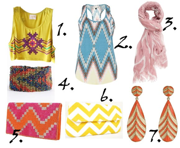 Zig Zag It Up! Colorful Chevron Picks From $10 to $43 2