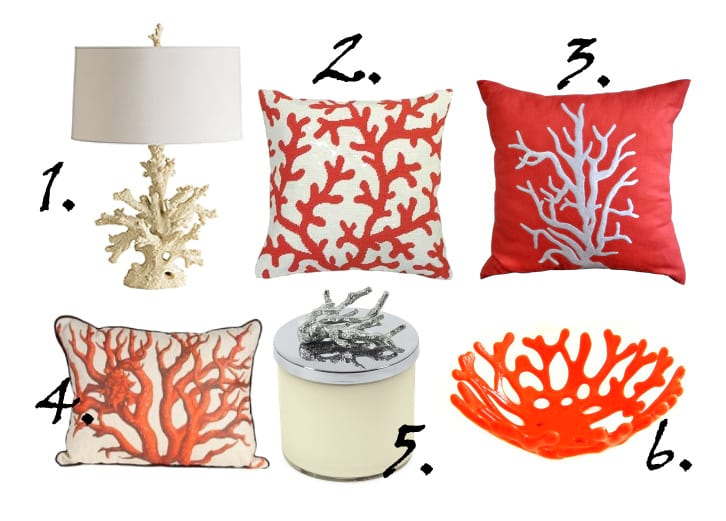 Decor Trends Coral Inspiration 6 Finds Under 170 How