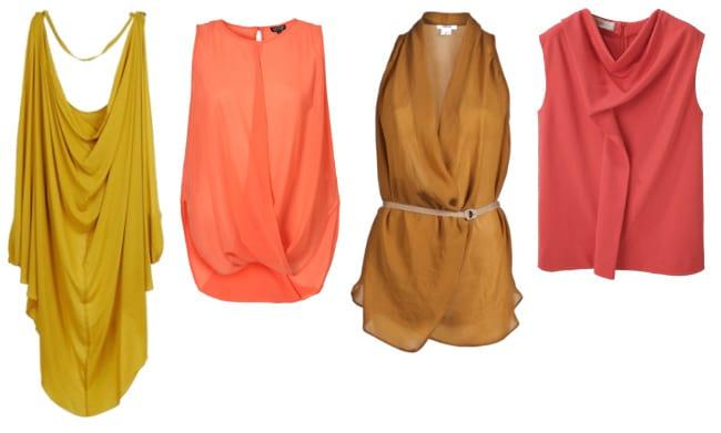 Artful Draping: 4 Colorful Drape Top Picks 3