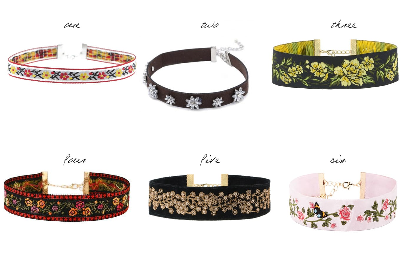 6 Floral Chokers Under 30$ 8