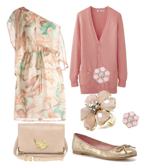 Pretty Pastels and Floral Grace - 6 Piece Look for $189 7
