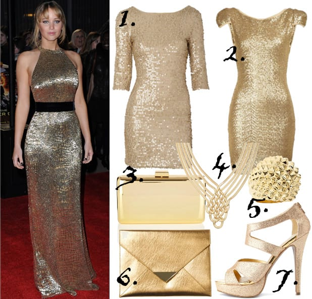 Celebrity Style: Golden Luxury Under $50 5