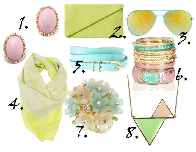 Just in Time for Spring: Pastel Accessories Under $30 2