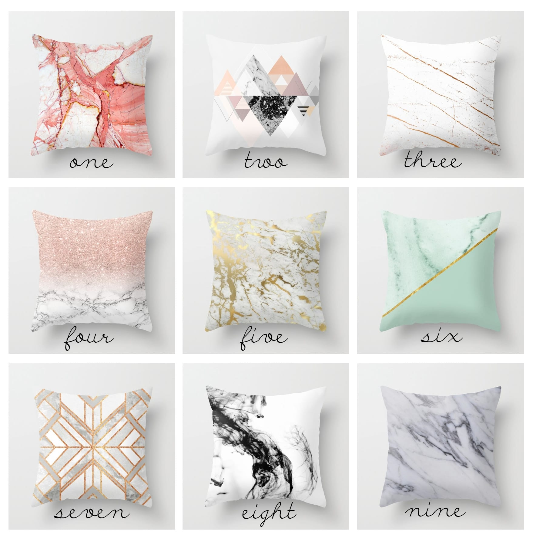 Trend Alert: Marble Pillows for $20 5