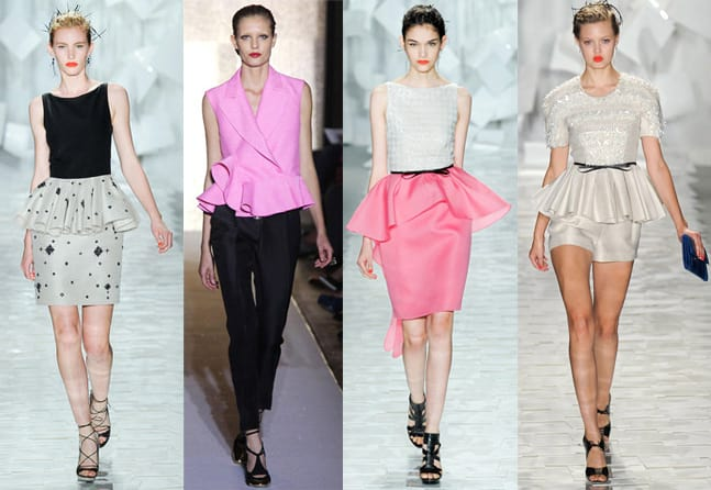 Spring 2012 Runway Trends: Peplum Tops, Skirts and Dresses 13