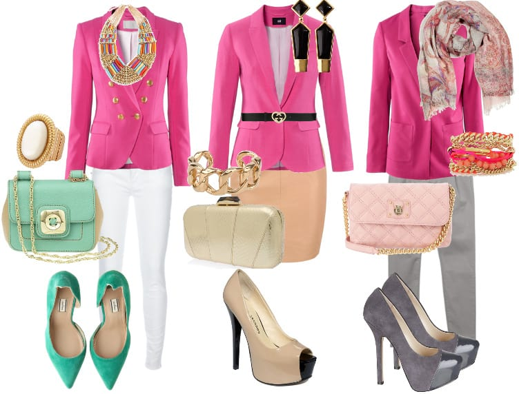 How to Wear Hot Pink Blazers - 3 Picks Under $50 5