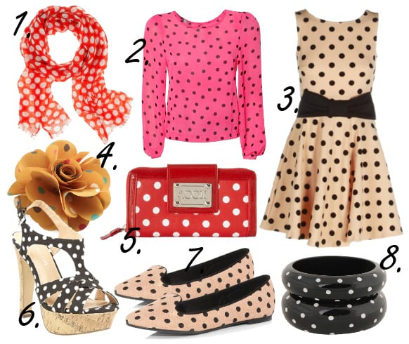 Bubbly Fun! Polka Dot Pieces Under $50! 3