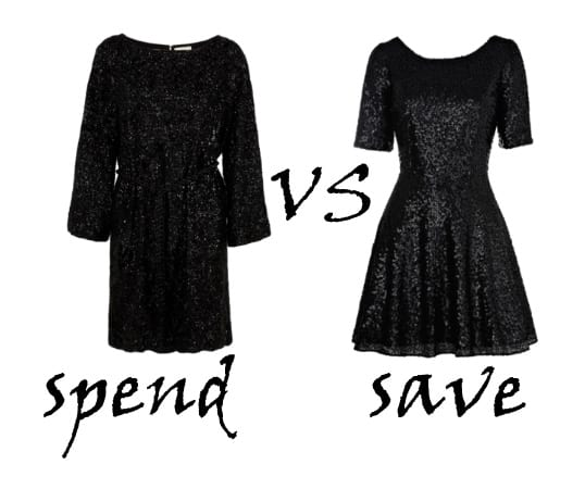 Spend VS Save: Sequin Black Dresses 1