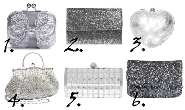 Shopping Time: Sparkly Silver Clutches Under $35 5