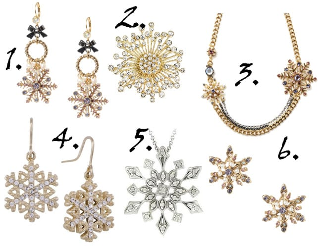 Sparkly Winter Picks: Crystal Snowflake Jewelry Under $50 3