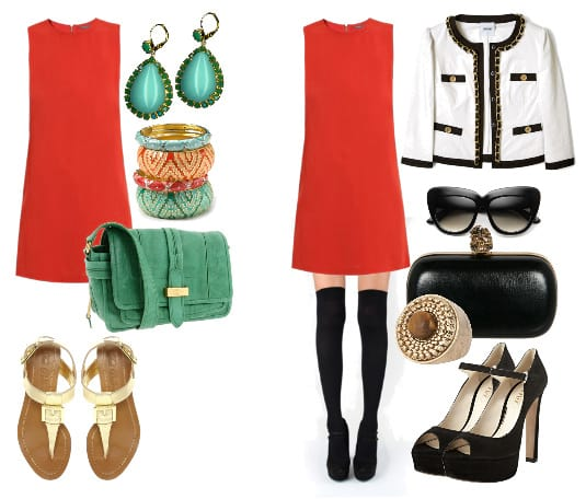 summer and autumn outfits with orange dress 3