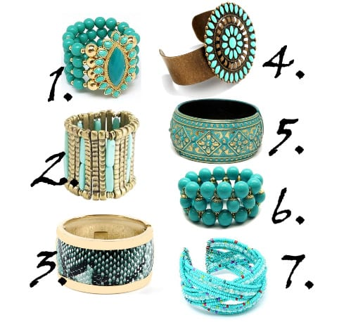 Shopping Time: Turquoise Bangles Under $20 6