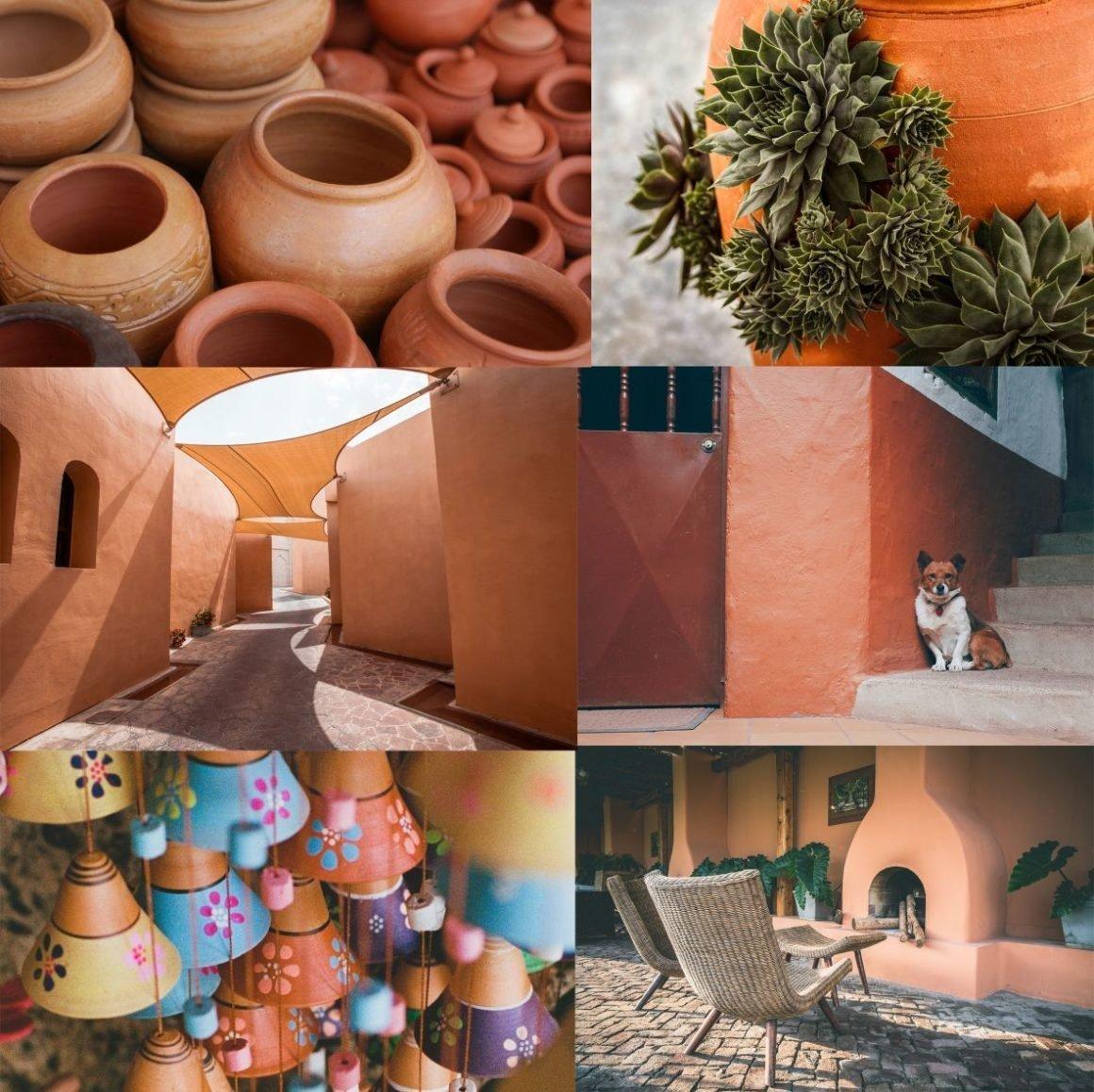 Terracotta color